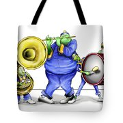 The Band Plays On Tote Bag