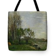 The Banks Of The Oise Tote Bag