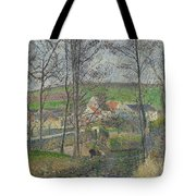 The Banks Of The Viosne At Osny In Grey Weather, Winter Tote Bag