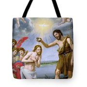 The Baptism Of Christ Tote Bag by Ottavio Vannini