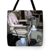 The Barber's Chairs Tote Bag