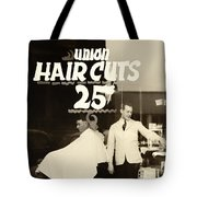 The Barbershop Window Tote Bag