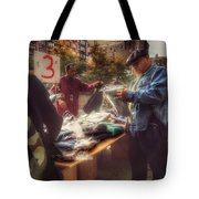 The Bargaining Table - Street Vendors Of New York Tote Bag