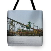 The Barge Waits At Aberdeen Tote Bag