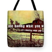 The Barn Quote Tote Bag