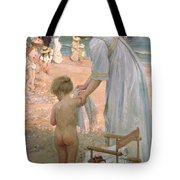 The Bathing Hour  Tote Bag