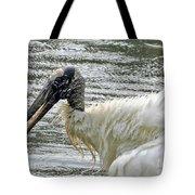 The Bathing Wood Stork 2 Tote Bag