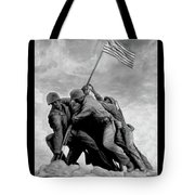 The Battle For Iwo Jima By Todd Krasovetz Tote Bag