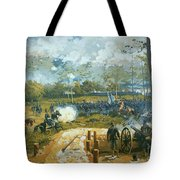 The Battle Of Kenesaw Mountain Tote Bag by American School
