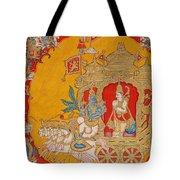 The Battle Of Kurukshetra Tote Bag