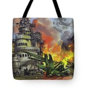 The Battle Of Midway Tote Bag