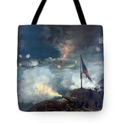 The Battle Of Port Hudson - Civil War Tote Bag