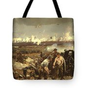 The Battle Of Vilmy Ridge Tote Bag
