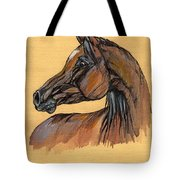 The Bay Arabian Horse 10 Tote Bag