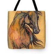 The Bay Arabian Horse 9 Tote Bag