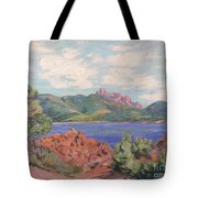 The Bay Of Agay Tote Bag by Jean Baptiste Armand Guillaumin