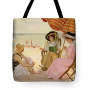 The Beach Tote Bag by Alfred Victor Fournier
