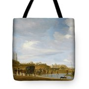 The Beach At Egmond An Zee Tote Bag by Salomon van Ruysdael