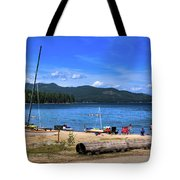 The Beach At Hill's Resort Tote Bag