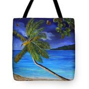 The Beach At Night Tote Bag