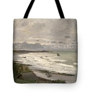 The Beach At Sainte Adresse Tote Bag by Claude Monet