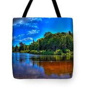 The Beach At Singing Waters Campground Tote Bag