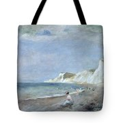 The Beach At Varangeville Tote Bag by Renoir