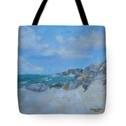 The Beached Boat Tote Bag