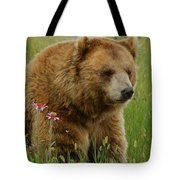 The Bear 1 Dry Brushed Tote Bag