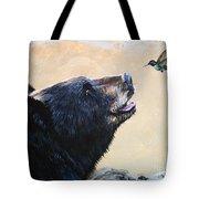 The Bear And The Hummingbird Tote Bag
