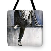 The Beatles John Lennon Reflection Tote Bag by Yuriy  Shevchuk