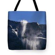 The Beautiful Bridalveil Falls Of Yosemite Tote Bag