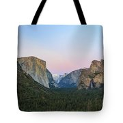 The Beautiful Tunnel View Of Yosemite Tote Bag