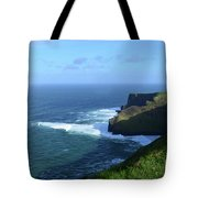 The Beauty Of Ireland's Cliff's Of Moher And Galway Bay  Tote Bag