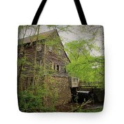 The Beauty Of The West Point On The Eno Grist Mill - Durham, N.c. Tote Bag