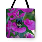 The Bee And The Flowers Tote Bag