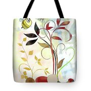 The Bee And The Ladybug Tote Bag