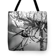 The Beetle Acrobat Black And White Tote Bag