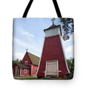 The Bellfry And The Church Of Kustavi Tote Bag