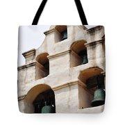 The Bells Of Mission San Gabriel Arcangel Portrait Tote Bag