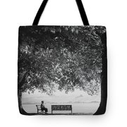 The Bench Man Tote Bag