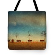 The Benches By The Moon Tote Bag