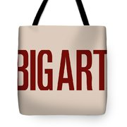 The Big Art - Dark Red On Egyptian Rose Tote Bag