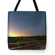 The Big Dipper Over The Lights Of Provincetown Ma Tote Bag