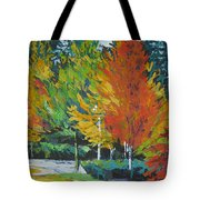 The Big Red Tree Tote Bag