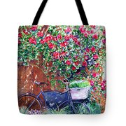 The Bike At Bistro Jeanty Napa Valley Tote Bag