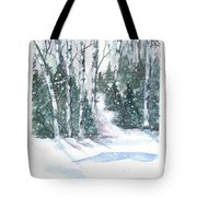 The Birch Trees Tote Bag