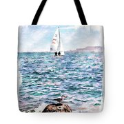 The Bird And The Sea Tote Bag
