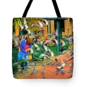 The Bird Feeder Tote Bag