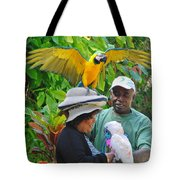 The Bird Lady At Ardastra Gardens Tote Bag